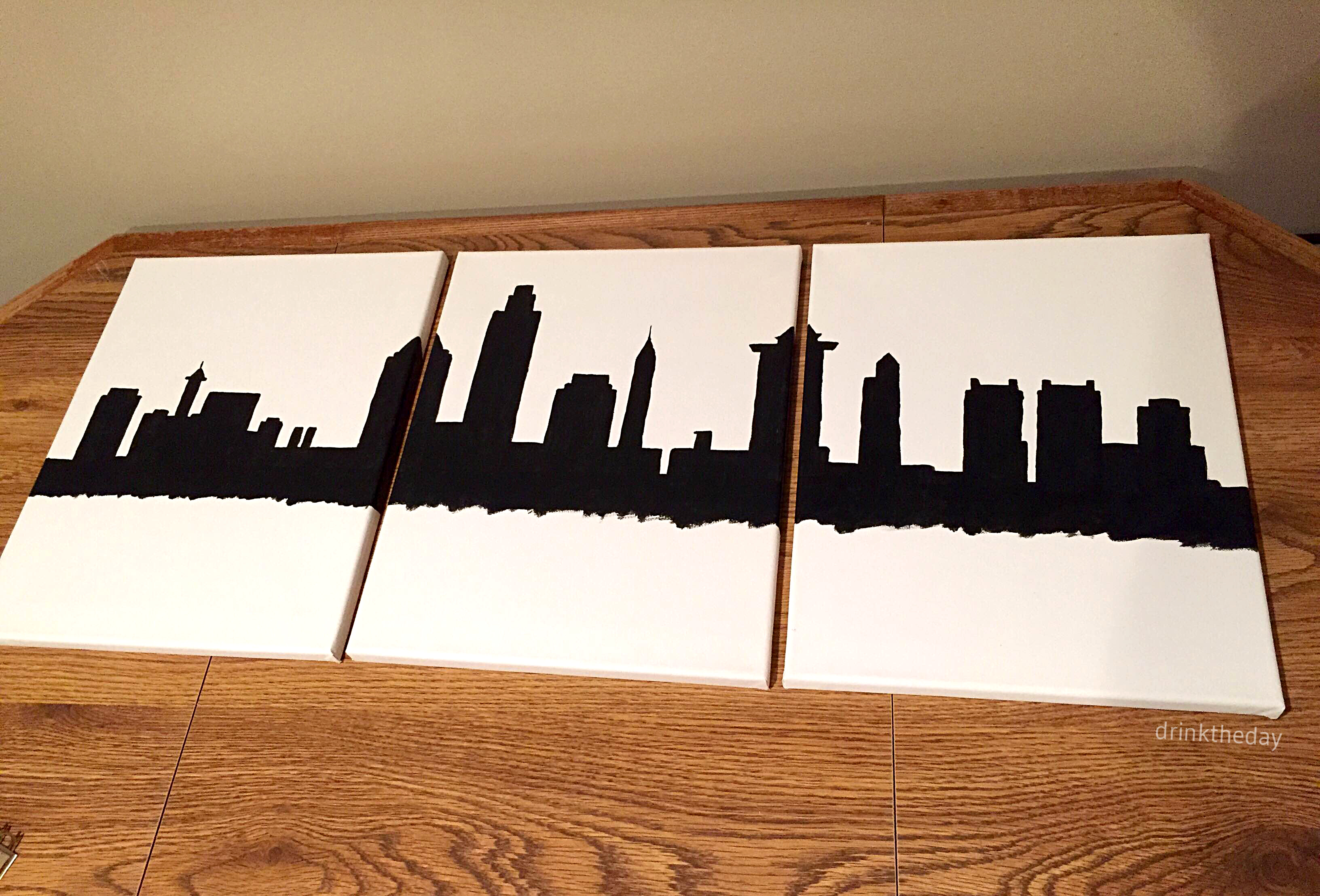 DIY Skyline Painting: Philadelphia // Drink the Day