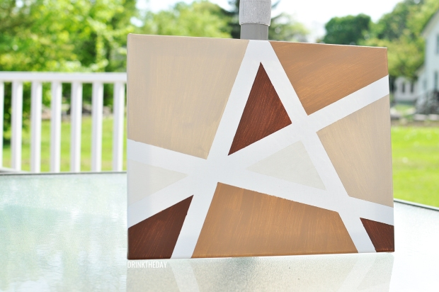 DIY: Criss Cross Canvas Painting