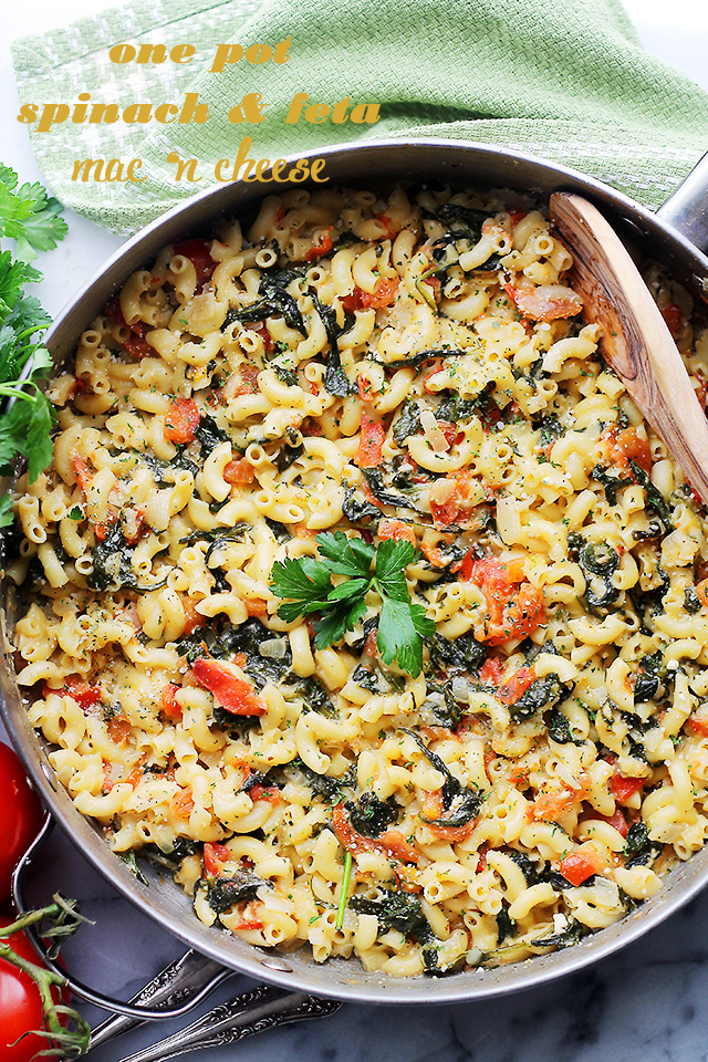who even thought of this feta spinach mac and cheese