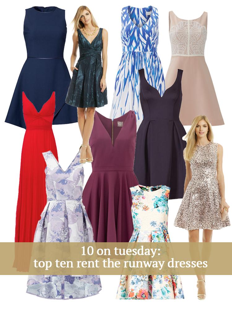 10 on Tuesday | Top Ten Rent the Runway Dresses